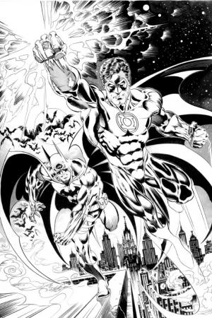 Batman Green Lantern commission for  Anneau definitive file copia
